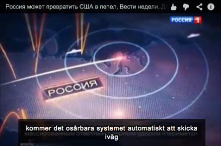 Rysk tv förklarar hur den automatiska kärnvapenvedergällningen kan förvandla USA till radioaktiv aska