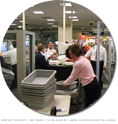 Airport security. Get ready to de-shoe by Jared and Corin - Flickr