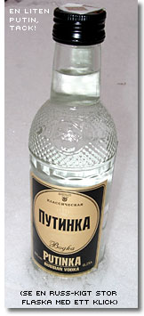"Vodkaflaskan ""Liten Putin"""