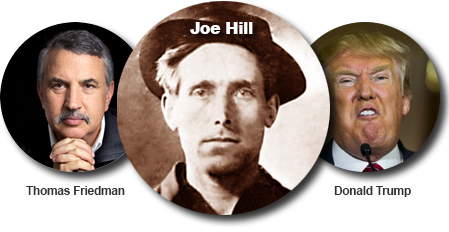 thomas friedman, joe hill och donald trump
