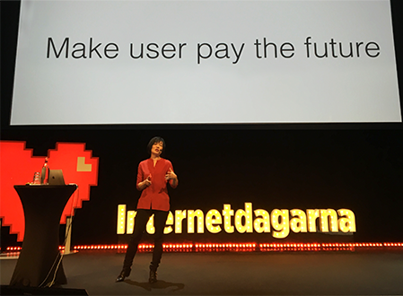make user pay for the future - Sue Garder på Internetdagarna