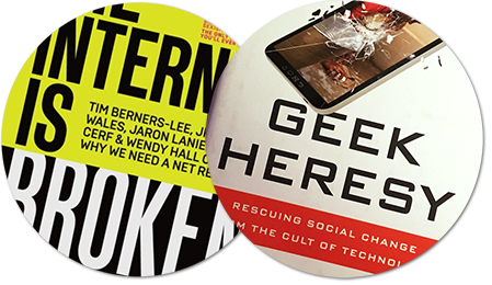 omslag med texten the internet is broken - geek heresy