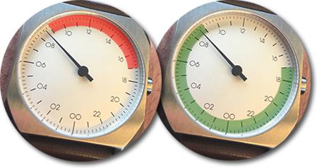 slow-klockans 24-timmarsurtavla visar att arbetstiden bara är en mindre del av dygnet