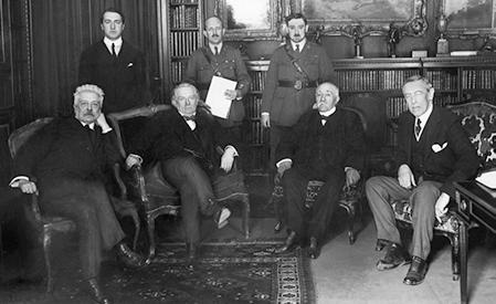 Vittorio Orlando, David Lloyd George, Georges Clemenceau och Woodrow Wilson